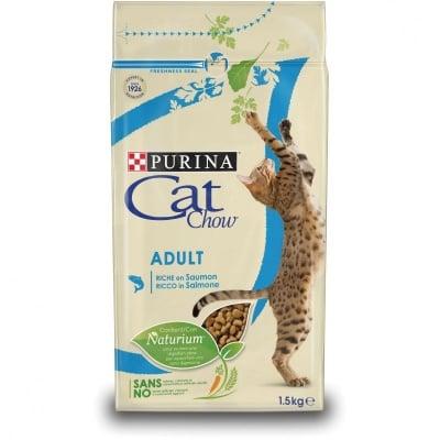Суха храна за котки Purina Cat Chow Adult, със сьомга и риба тон , 15,00кг