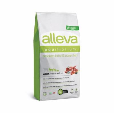 Пълноценна храна за възрастни кучета от малки и средни породи Alleva® Equilibrium Sensitive, с агнешко и океанска риба, 2.00кг
