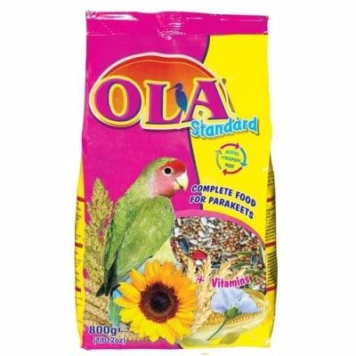 Храна за средни папагали OLA Standard, 800 гр