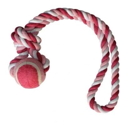 Играчка за куче - Топка с въже - 5 х 33 cм.