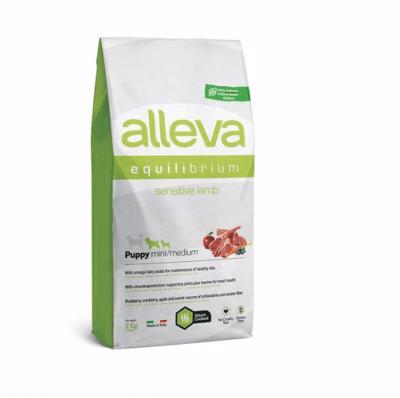 Пълноценна храна за млади кученца от малки и средни породи, както и за бременни и лактиращи кучета Alleva® Equilibrium, с агнешко, 2.00кг