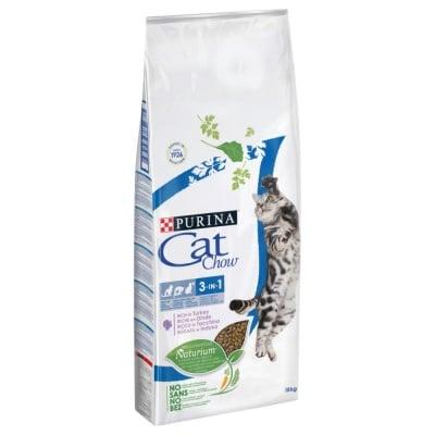 Суха храна за котки Purina Cat Chow Special Care 3 в 1, с пуешко месо, две разфасовки