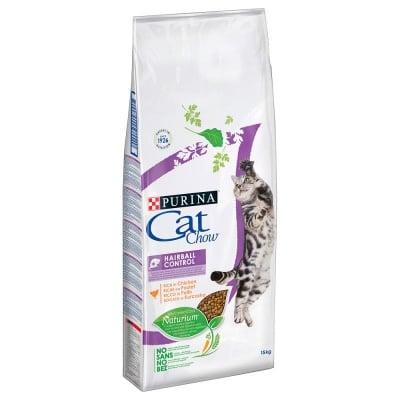 Суха храна за котки Purina Cat Chow Adult Special Care Hairball Control, срещу образуването на космени топки в стомаха, две разфасовки