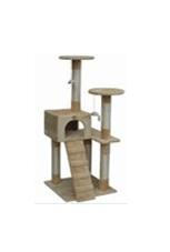 Драскало за котки тип катерушка със стълбичка и къща