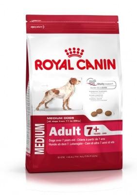 """""""Royal Canin Medium Adult 7+""""  - Пълноценна храна за кучета в напреднала възраст от средните породи"""