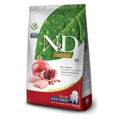 Храна за подрастващи кучета от едри породи N&D PRIME Puppy Maxi Chicken & Pomegranate, с пилешко и нар, 12.00кг
