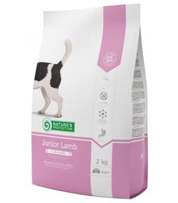 Суха храна за подрастващи кученца от всички породи nature's protection Junior Lamb, с агнешко месо, 100ГР НАСИПНО