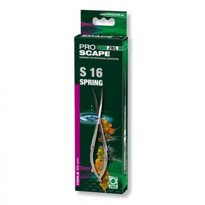 JBL ProScape Tool S 20 straight - Професионално рязане на мъхове и тревни площи за създаване на аквариумни пейзажи: извити пролетни ножици за поддържане на водни басейни