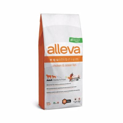 Ежедневна храна за средни и големи кучета  Alleva® Equilibrium, с Пилешко и Океанска Риба, 12кг