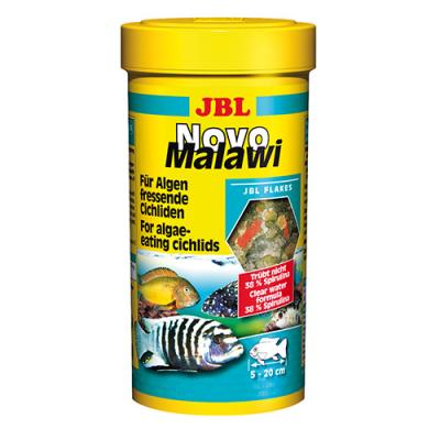 JBL NovoMalawi - Храна за растителноядни цихлиди, люспи с 38% спирулина - 250мл; 1 литър