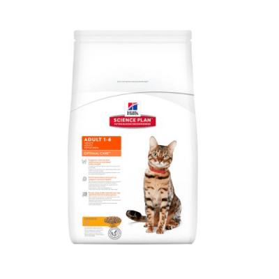 """""""Hill`s Science Plan Feline Adult Optimal Care Chicken"""" - Пълноценна храна с пилешко за котки в зряла възраст от 1 до 7 години"""