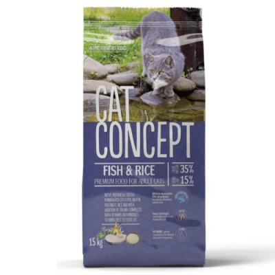 Храна за котки Cat Concept, с риба, 15.00кг