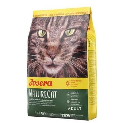 Josera Nature Cat - Беззърнена суха храна за котки - регулира pH-стойностите на урината, срещу образуването на космени топки