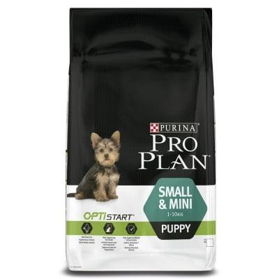 Суха храна за куче Purina PRO PLAN Opti Start Dog Small & Mini Puppy, с пилешко месо, 100ГР НАСИПНО