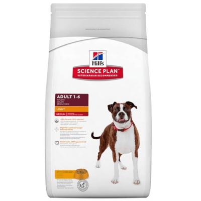 """""""Science Pla Canine Adult Light Chicken"""" - Пълноценна храна с пилешко месо за кучета с понижени енергийни нужди"""