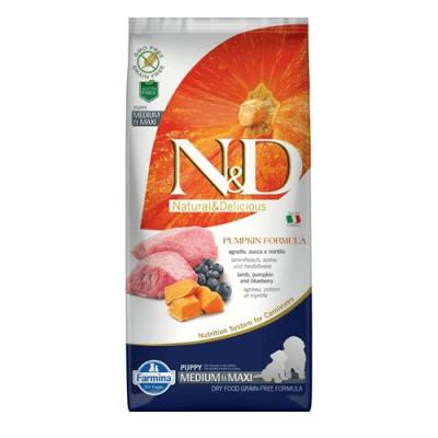 """""""N&D PUPPY MED&MAXI PUMPKIN"""" -  Пълноценна храна за подрастващи кученца и бременни или кърмещи кучета"""