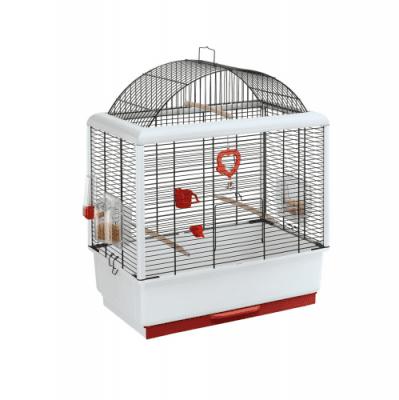 КЛЕТКА ЗА ПТИЦИ 49Х30Х65СМ - подходяща за канари и малки екзотични птици,оборудвана