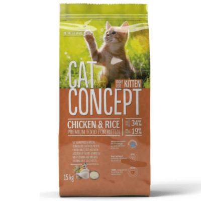Храна за малки котенца Cat Concept Kitten, с пилешко месо и ориз, 15.00кг