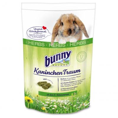 Пълноценна храна за декоративни зайчета след навършване на 6 месеца с 42 различни растения от нетретирани ливади Bunny HERBS, 1.50кг