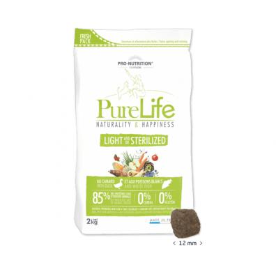 Храна за кучета със склонност към наднормено тегло и/или кастрирани кучета Pro-Nutrition Flatazor PureLife Light/Sterilized, без зърнени храни, две разфасовки