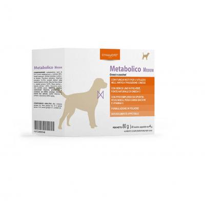 Допълваща храна, предназначена да помогне на кучето да поддържа физиологичните метаболитни условия по оптимален начин Dynamopet Metabolico Medium, 20брх4гр