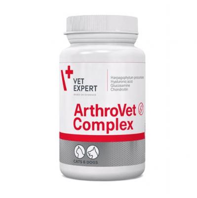 ArthroVet HA Complex е допълнителен продукт за кучета и котки с нарушена функция на хрущялната тъкан и ставите - 60таб.; 90таб