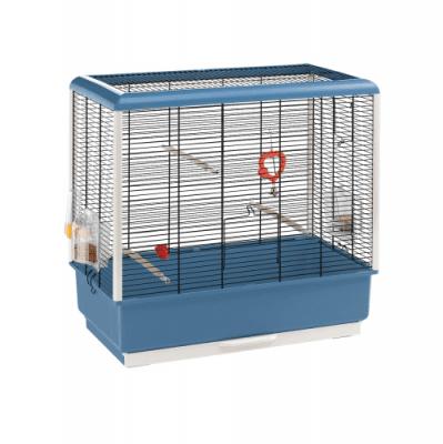 КЛЕТКА ЗА ПТИЦИ 59Х33Х60СМ - подходяща за канари и екзотични птици, оборудвана