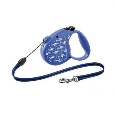 Автоматичен повод за куче Flexi Flamingo Special Edition - въже 5м за кучата до 12кг