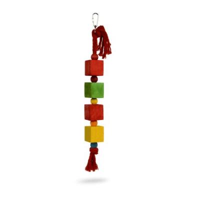 Играчка за папагал кубчета - 4x42см.