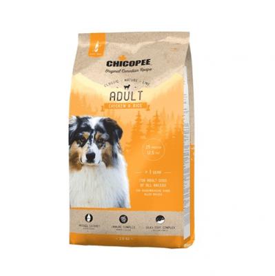 Храна за кучета Chicopee Classic Nature Adult над 12 месеца с пиле и ориз - 2.00кг, 15.00кг