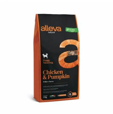 Пълноценна храна за подрастващи кучета от големи породи Alleva® Natural, с пиле и тиква, 2.00кг
