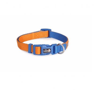 Нашийник за куче DOUBLEPREMIUM ORANGE/BLUE, различни размери