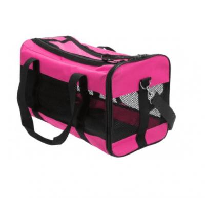 Транспортна чанта за кучета и котки Trixie Royan, розова, 26х27х47см