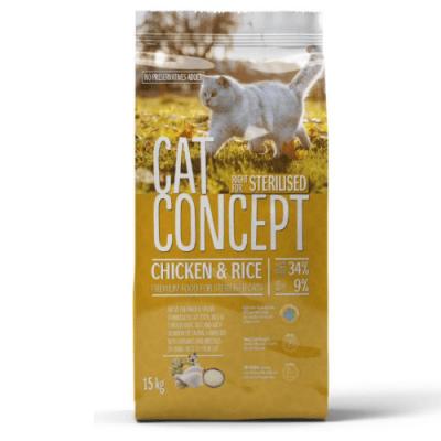 Храна за кастрирани котки Cat Concept Sterilised, с пилешко месо и ориз, 400гр
