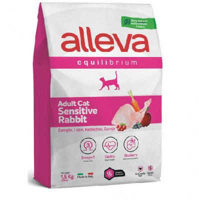 Хранa за възрастни котки със заешко Alleva® Equilibrium Sensitive Rabbit (Adult), 1.5 kg