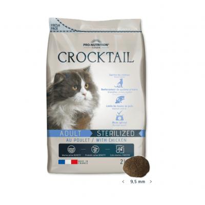 Храна за кастрирани котки Flatazor Crocktail ADULT STERILIZED, с пилешко месо, три разфасовки