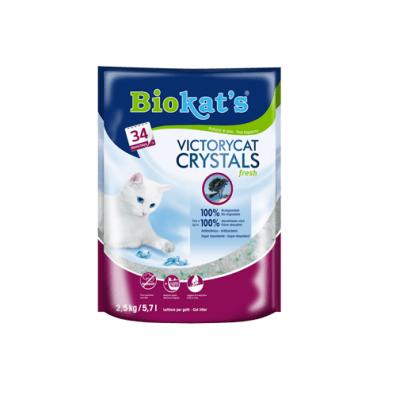 Котешка тоалетна силикагел ароматизирана Biokat's VictoryCat Crystals Fresh, 2.50кг