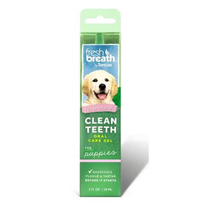 Почистващ гел за малки кученца против зъбен камък и плака TROPICLEAN Fresh breath Puppies, 59мл