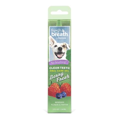 Почистващ гел за кучета против зъбен камък и плака TROPICLEAN Berry Fresh Gel, с вкус на горски плодове, 59мл
