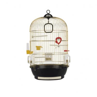 Клетка за птици - златна - CAGE DIVA BRASS- 40хH65см