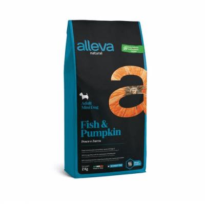 Пълноценна храна за възрастни кучета от малки породи Alleva® Natural Adult Mini, с риба и тиква, 2.00кг