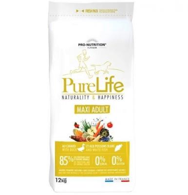 Пълноценна храна за пораснали кучета от едри породи Pro-Nutrition Flatazor PureLife Maxi Adult, без зърнени храни, 12.00кг