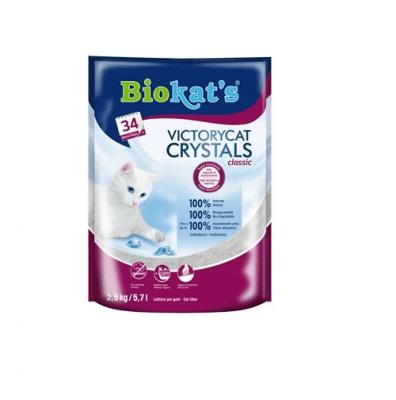 Котешка тоалетна силикагел Biokat's VictoryCat Crystals Classic, 2.500кг