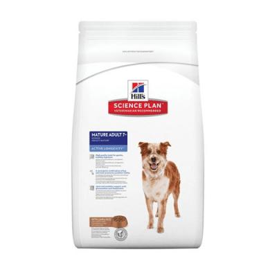 """""""Science Pla Canine Mature Adult Active Longevity Medium Chicken"""" - Пълноценна храна с пилешко за кучета от средни породи на възраст над 7 години"""