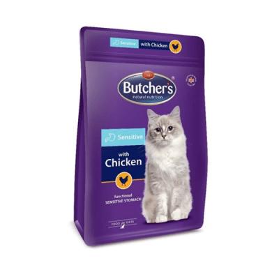 Butcher's Pro Series Sensitive Пълноценна храна за котки с чурствеителен стомах с пилешко месо 800гр