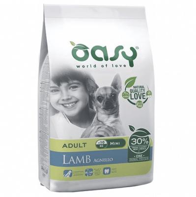Храна за кучета Oasy Lamb Monoprotein Adult Mini с агнешко за мини породи над 10 месеца, 2.5кг