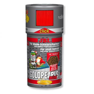 Храна за малки златни рибки JBL GoldPearls mini CLICK, 100 ml, с дозатор
