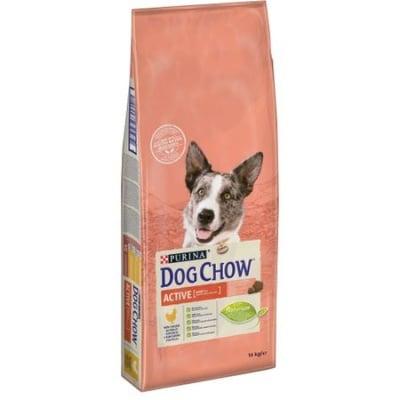 Суха храна за активни кучета Purina DOG CHOW ACTIVE Chicken, с пилешко месо, 14.00кг