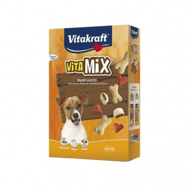 Различни видове бисквити за кучета Vitakraft VITA MiX, 400гр