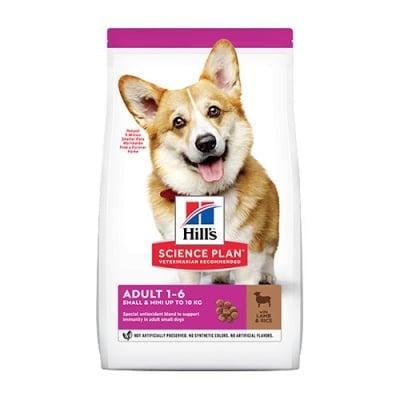 Hills Science Plan Small&Mini Adult с агнешко и ориз - Пълноценна суха храна за дребни и миниатюрни породи кучета в зряла възраст 1-6 години